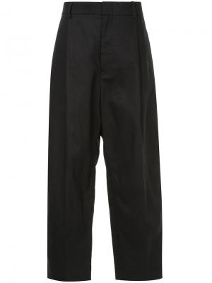 Cropped wide leg trousers Sofie Dhoore D'hoore. Цвет: чёрный