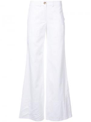 Расклешенные брюки Robert Rodriguez. Цвет: белый