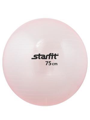 Мяч гимнастический STARFIT GB-105 75 см, прозрачный, розовый. Цвет: розовый