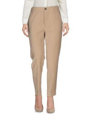 Повседневные брюки TRUE TRADITION. Цвет: бежевый