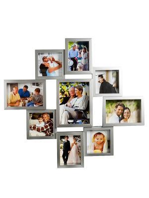 Фоторамка настенная Семейная история на 9 фото Bellezza casa. Цвет: серебристый