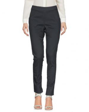Повседневные брюки IVORIES. Цвет: свинцово-серый