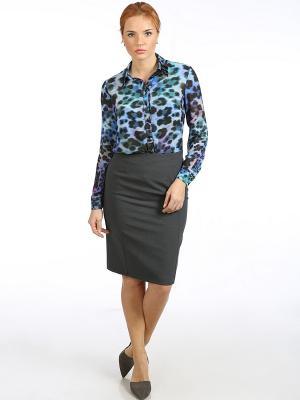 Блузка Stilla. Цвет: черный, темно-синий, фиолетовый