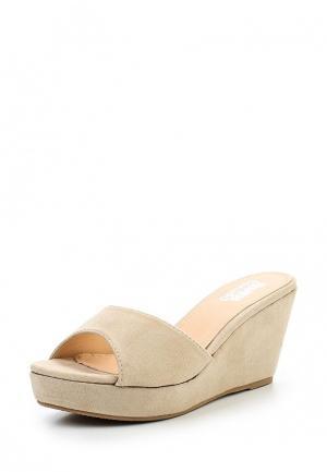 Сабо Max Shoes. Цвет: бежевый