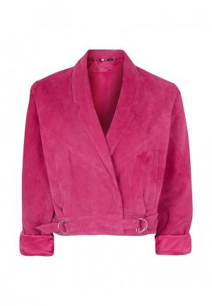 Куртка кожаная Topshop. Цвет: фуксия