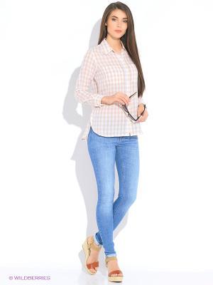 Блузка MEXX. Цвет: белый, коричневый