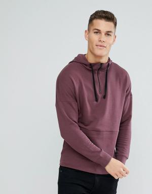 Tom Tailor Худи фиолетового цвета с заниженной линией плеч. Цвет: фиолетовый