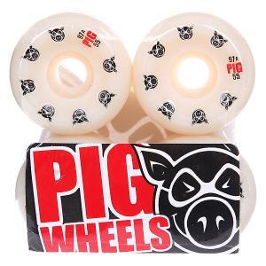 Колеса для скейтборда  Multi Speedline 97A 55 mm Pig. Цвет: белый