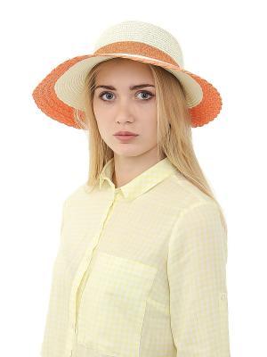 Шляпа Migura. Цвет: белый, оранжевый