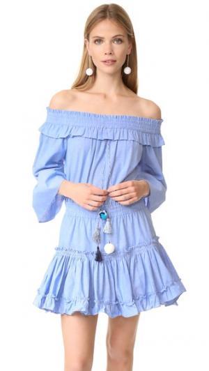 Платье Masha MISA. Цвет: голубой