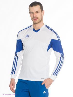 Лонгслив Adidas. Цвет: белый, синий
