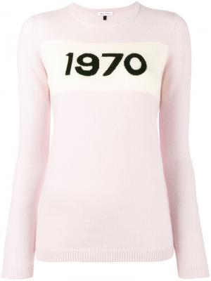 Свитер 1970 Bella Freud. Цвет: розовый и фиолетовый