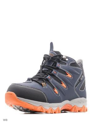 Ботинки QWEST. Цвет: оранжевый, синий, черный