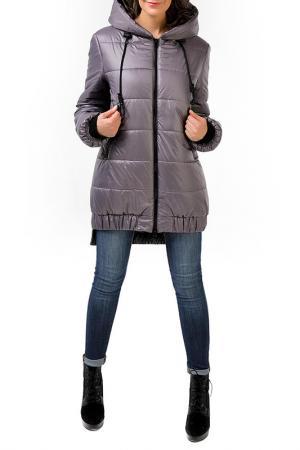 Куртка DizzyWay. Цвет: серый, лиловый