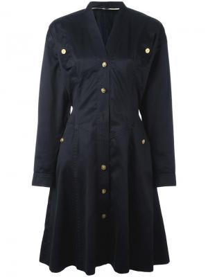 Платье на пуговицах Chanel Vintage. Цвет: чёрный