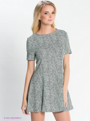 Платье EASY WEAR. Цвет: светло-зеленый, черный