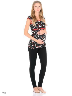Блузка для беременных и кормления 40 недель. Цвет: черный, красный