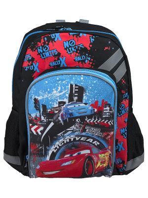 Рюкзак Cars. Цвет: черный, голубой