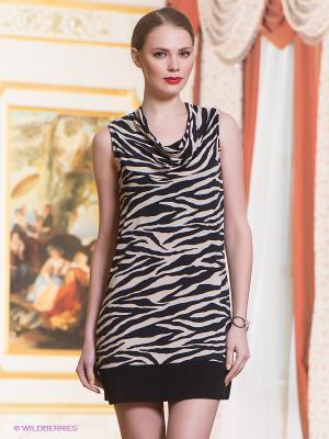 Платье Comma. Цвет: черный, бежевый