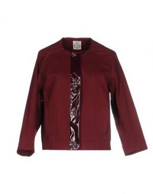 Куртка SO NICE. Цвет: красно-коричневый