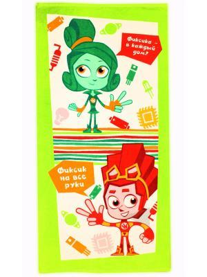 Махровые полотенца ФИКСИКИ. Цвет: зеленый