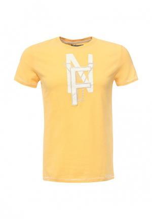 Футболка Frank NY. Цвет: желтый