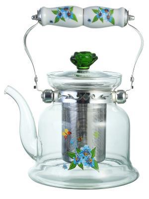 Чайник заварочный Bekker. Цвет: серо-зеленый, серебристый, серый