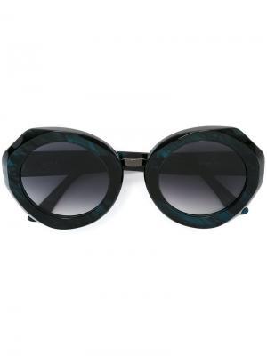 Солнцезащитные очки Rosa Kyme. Цвет: зелёный