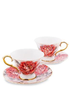 Чайный н-р на 2 перс. Фиор Дель Аморе (Pavone) Pavone. Цвет: красный