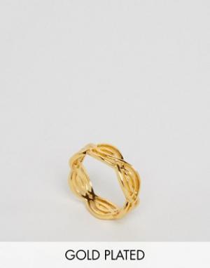 Gorjana Кольцо с отделкой волнами Mesa. Цвет: золотой