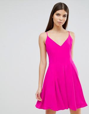 Greylin Платье-трапеция Silivia. Цвет: розовый