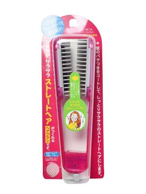 Щетка для выпрямления волос розовая IKEMOTO. Цвет: прозрачный