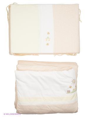 Комплект Кантри 6 предметов Сонный гномик. Цвет: бежевый