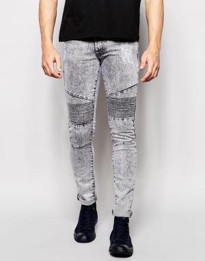 Loyalty & Faith Облегающие джинсы. Цвет: серый