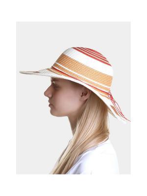 Шляпа Canoe. Цвет: терракотовый, белый