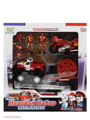Набор техники Пожарная команда с фигурками S-S. Цвет: красный