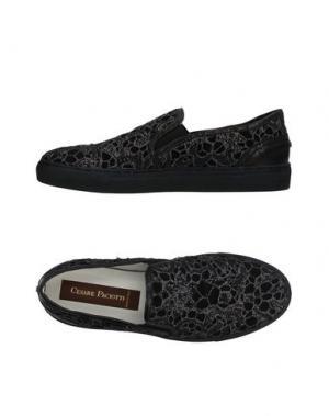 Низкие кеды и кроссовки CESARE PACIOTTI. Цвет: черный