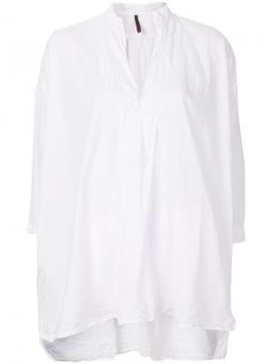 Расклешенная блузка с разрезом Daniela Gregis. Цвет: белый