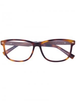 Очки для зрения с эффектом черепахового панциря Ermenegildo Zegna. Цвет: коричневый