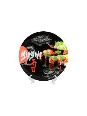 Блюдо Суши Elan Gallery. Цвет: черный
