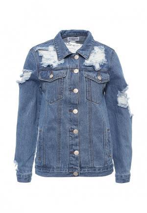 Куртка джинсовая Glamorous. Цвет: голубой