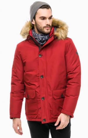 Красный пуховик с капюшоном LERROS. Цвет: красный
