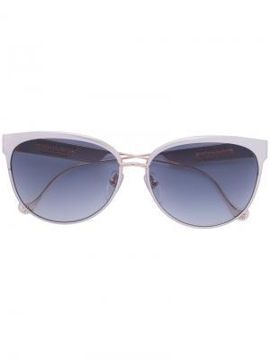 Солнцезащитные очки Blowjay Chrome Hearts. Цвет: металлический