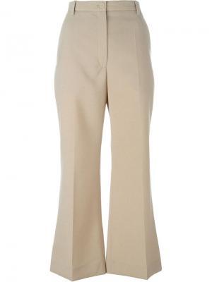 Укороченные расклешенные брюки Nina Ricci. Цвет: телесный