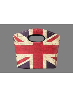 Сумочка интерьерная для хранения Британский флаг EL CASA. Цвет: синий, бежевый, красный
