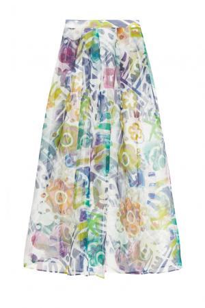 Юбка из шелка 160662 Infinee. Цвет: разноцветный