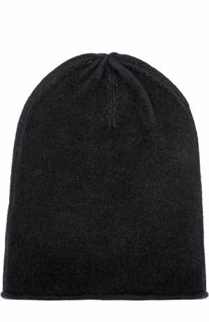 Кашемировая вязаная шапка Allude. Цвет: черный