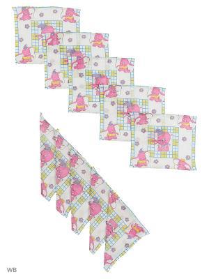 Набор платков носовых детских Римейн. Цвет: фиолетовый, белый