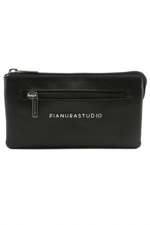 Клатч Pianurastudio. Цвет: black