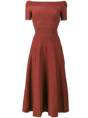 Платье Kate с пышной юбкой Barbara Casasola. Цвет: красный